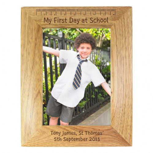 Personalised My First Day at School 5x7 Wooden Frame